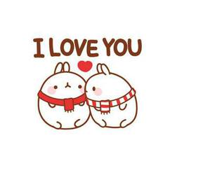 cute, love, and molang image