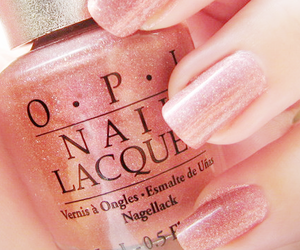 nails, opi, and pink image