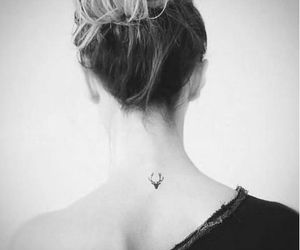 tattoo, deer, and neck image