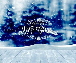 christmas, snow, and merry christmas image