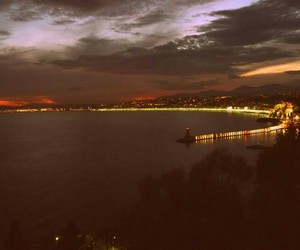 france, nice, and night image