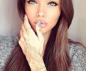 girl, eyes, and make up image