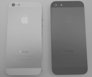 iphone, black, and white image