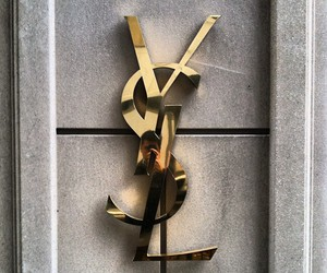YSL, fashion, and gold image