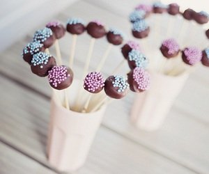 food, chocolate, and cakepops image