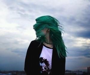 hair, girl, and green image
