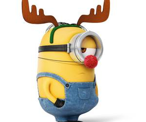 christmas, reindeer, and minion image