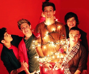 one direction, christmas, and Harry Styles image