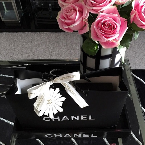 chanel, rose, and flowers image