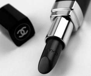 chanel, lipstick, and black image