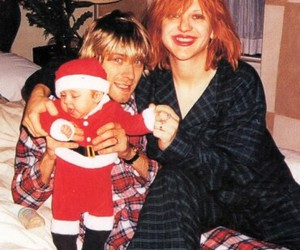 kurt cobain, Courtney Love, and frances bean cobain image