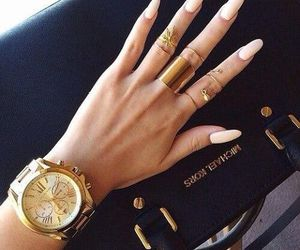 nails, watch, and Michael Kors image