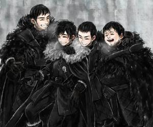 game of thrones, jon snow, and samwell image