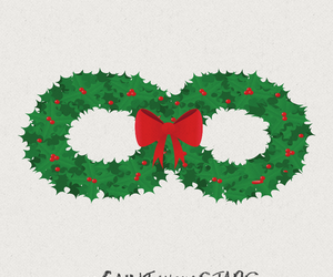 wreath, the fault in our stars, and holidays image