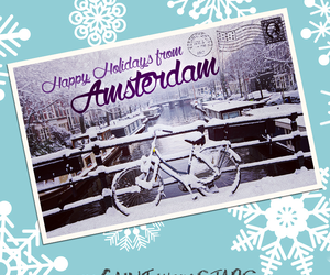 amsterdam and postcard image