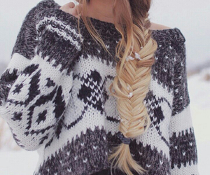 blonde hair, clothes, and hair image