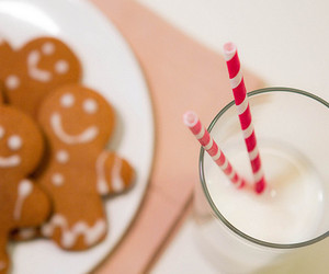 milk, Cookies, and christmas image