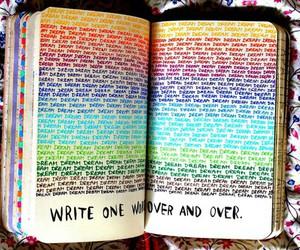 Dream, book, and rainbow image