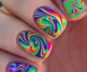 marble, neon, and nails image