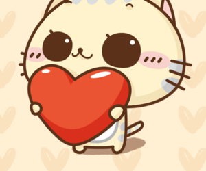 cat, heart, and sweet image