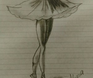 ballerina, blackandwhite, and drawings image