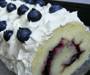 blueberry, cake, and cream image