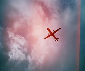 airplane, photography, and sky image