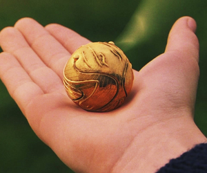 harry potter, quidditch, and snitch image