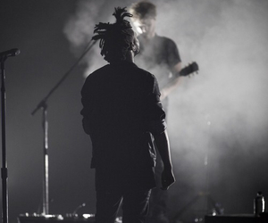 the weeknd, black and white, and xo image