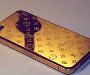 iphone, Louis Vuitton, and gold image