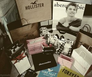 hollister, abercrombie, and shopping image