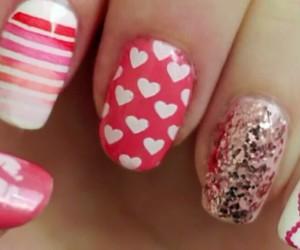 nails, glitter, and kiss image