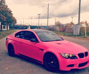bmw, pink, and car image