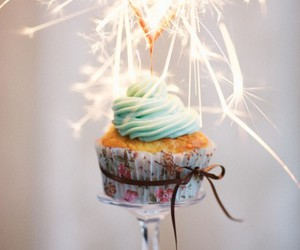 cupcake, food, and birthday image