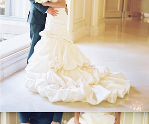 couple, shoes, and wedding image