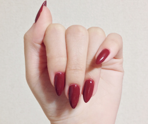 nails, red, and girl image