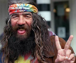 hippie, peace, and man image