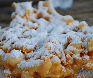 desire, food, and funnel cake image