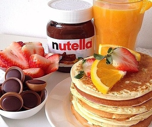 delicious, nutella, and pancake image