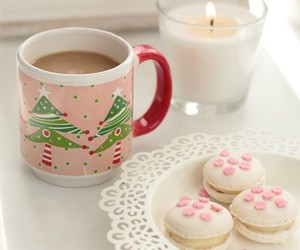 breakfast, candle, and christmas image
