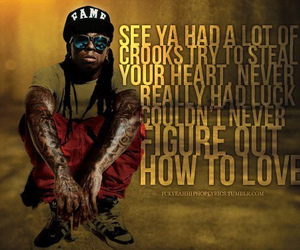 lil wayne, how to love, and love image