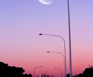 moon, sky, and pink image