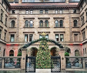 architecture, building, and christmas image