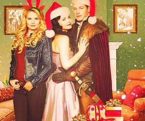 family, merry christmas, and once upon a time image
