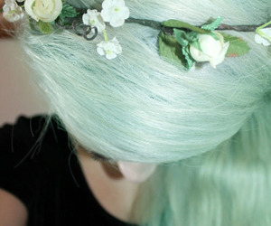 alternative, floral, and flower headband image