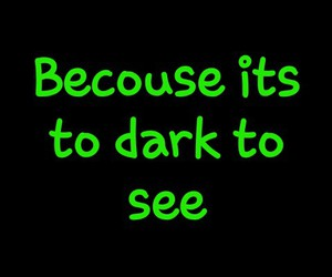 Darkness and words image
