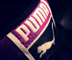 puma, shoes, and love it image