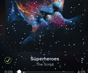 music, song, and superheroes image