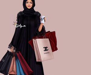 shopping, girly_m, and hijab image