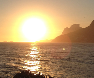 brasil, por do sol, and verao image
